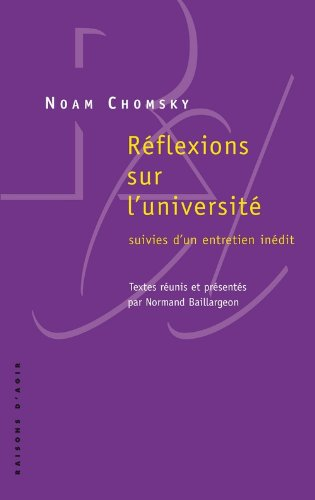 Rflexions sur l'universit