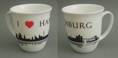 Hamburg Becher I love Hamburg Skyline Souvenir Kaffeebecher Teebecher