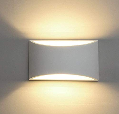 Applique da parete a led intonaco applique applique su giù illuminazione decorativa da parete interna con 7w l luce g9 cap tipo night lamp per soggiorno camera da letto hall scalinata pathway (warm white)