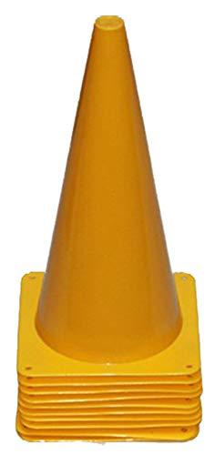 10er Set Markierkegel, 38 cm, gelb