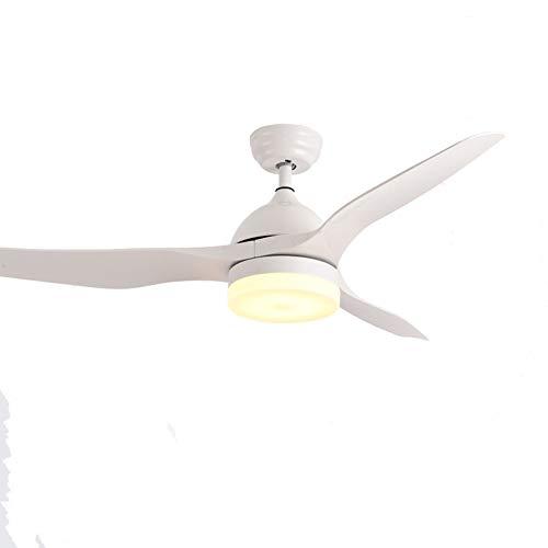 52 Zoll Einfache Fan Licht,3 Geschwindigkeiten Dreifarbiges Dimmen Led-licht Moderne Deckenventilatorleuchte-weiß F 52zoll - Rost-finish Deckenventilator