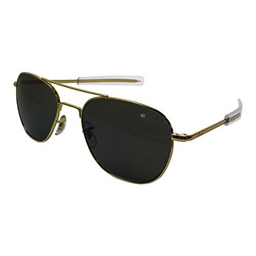 American Optical Pilot Aviator Sunglasses 55 mm Gold by AO Eyewear