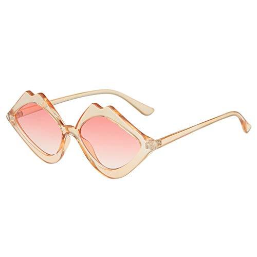 iCerber sonnenbrillen Chic Lässig Einzigartig Damen Mode Jelly Sonnenschutz Sonnenbrille Integrierte Candy Color Brille UV 400 ❀❀2019 Neu❀❀(Rosa)