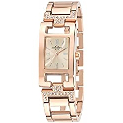 Chronostar Sun Women's Quartz Watch with Rose Gold Dial Analogue Display and Pink Stainless Steel Strap R3753101503