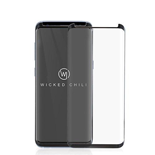 Wicked Chili 3D Echtglas Full Cover für Samsung Galaxy S8 (SM-G950) Panzerglas Displayschutz Vollumrandung (9H Tempered Glass/Case kompatibel/vorgerundet/0,3 mm dünn/kratzfest) (Case Cover 3d)