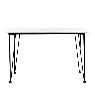 [en.casa] Design Esstisch 'Hairpin' in Weiß 120x70cm - Küchentisch Esszimmertisch Tisch mit Hairpin-Legs