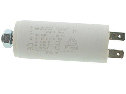 ICAR Starterkondensator 8µF, Ø:30mm, Lä: 71mm Anlaufkondensator Betriebskondensator Motorkondensator