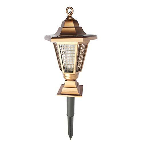 y Bug Zappers Lichter Mückenschutz Licht UV-LED-Lampe Outdoor Solar Garden Yard Rasen Hexagonal Laterne Lampe Moskito-Falle mit Spike ()