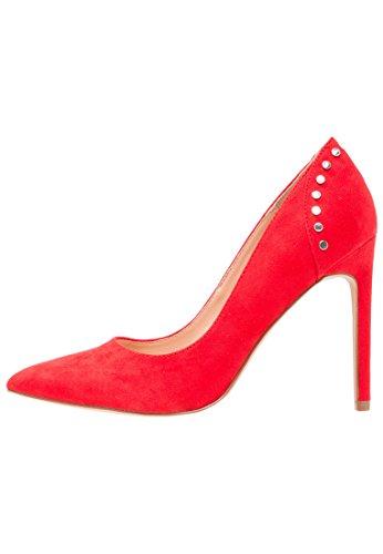 Even&Odd Elegante High Heels - Pumps mit Nieten - Schuh mit Absatz - Damenschuhe in Rot, Größe 37