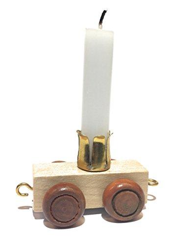 Buchstabenzug | Geburtstags Zahlen und Waggon mit Kerzenhalter | Holzeisenbahn | EbyReo® Namenszug aus Holz | personalisierbar | Geburtstag oder als Deko für den Geburtstagstisch (Waggon Kerze) -