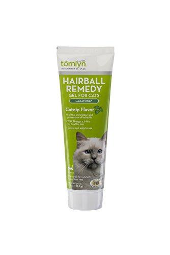 tomlyn Hairball Remedy Gel para Gatos, Catnip Sabor, (laxatone) 4,25oz