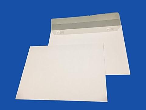 lot de 20 enveloppe courrier A5 - C5 papier velin blanc 90g format 162 x 229 mm une enveloppe blanche avec fermeture bande adhésive autocollante siliconnée