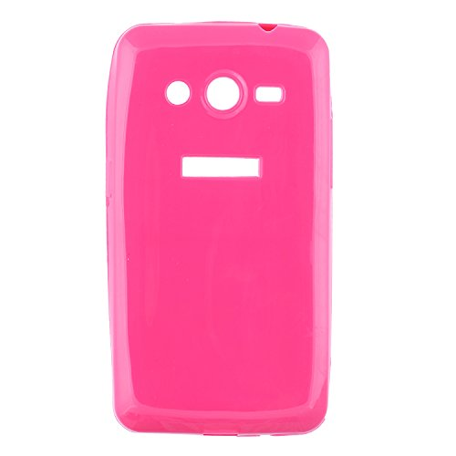 iCandy™ thin Soft TPU Back Cover for Samsung Galaxy Core 2 G355H - Pink  available at amazon for Rs.99
