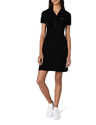 Lacoste Damen Ef8470 Knielanges Fit-Slim-Kleid, Schwarz (Noir), 36 EU (8 UK)