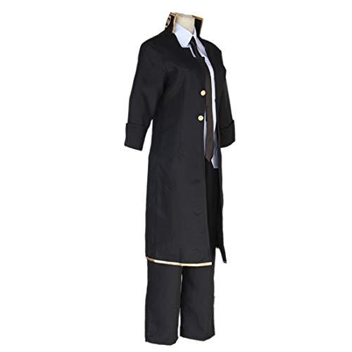 YKJ Anime Cosplay Kostüm Schwarz Uniform Rollenspiel Kostüm Halloween Party Cosplay Kostüm,Full Set-XL (Der Herz König Kostüm Kind)