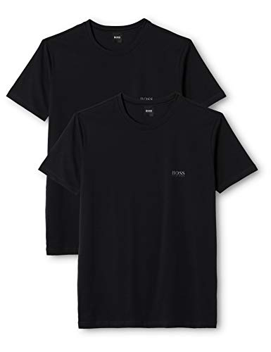 BOSS Herren RN 2P CO/EL T-Shirts, Schwarz (Black 001), XX-Large (2erPack) -