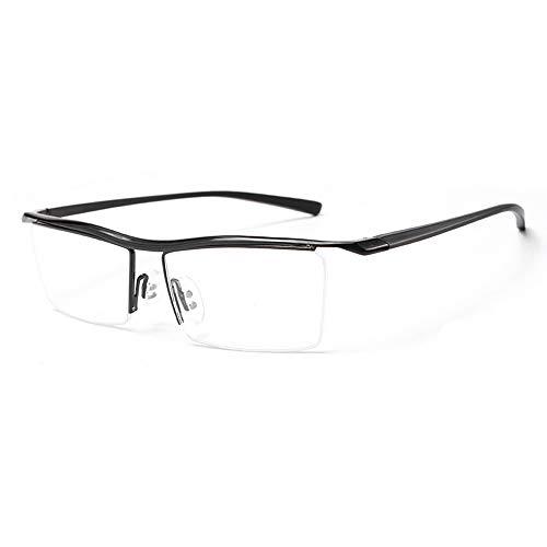 Herren Sonnenbrillen Klassische Kunststoff optische optische Myopie Brillengestell flach Licht kann mit blauem Licht ausgestattet werden LTJHJD (Color : Schwarz, Size : Kostenlos)
