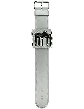 S.T.A.M.P.S. Stamps Uhr komplett - Zifferblatt Ich bin ein Berliner auf Satinarmband Silber