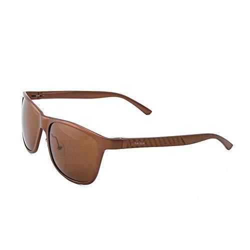 SCJ Herren Outdoor Freizeit Classic Wild Polarized Retro Persönlichkeit Aluminium-Magnesium-Brille für Männer und Frauen UV-Blocking Classic Sonnenbrille Outdoor-Sportbrillen (Farbe: Einfarbig,