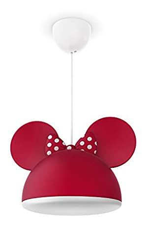 Philips Disney Pendelleuchte Minnie Mouse 23 W, weiß / rot, 717583116