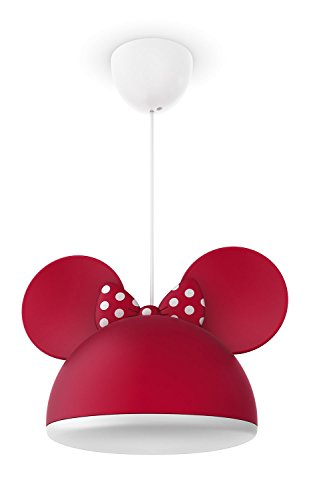 Philips Disney Pendelleuchte Minnie Mouse 23 W, weiß / rot, (Disney Mickey Minnie)