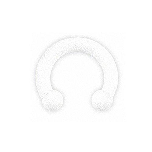 Piersando Piercing Silikon Hufeisen Septum Ring mit Kugeln Lippen Nasen Lippe Ohr Tragus Helix Intim Horseshoe Brust Nippel Weiß 8mm