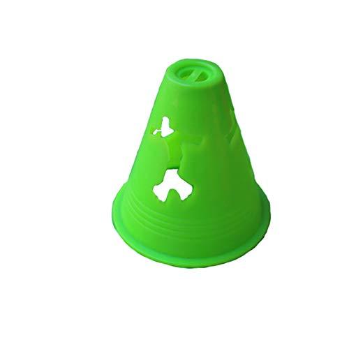 Skate Pile Cup 20 Teile/Paket Ausrüstung Rugby Geschwindigkeit Hindernis Praxis Professionelle Stadion Freies Slalom Inline Sport Fußballtraining Kennzeichnung Beweglichkeit Kegel(Grün) -