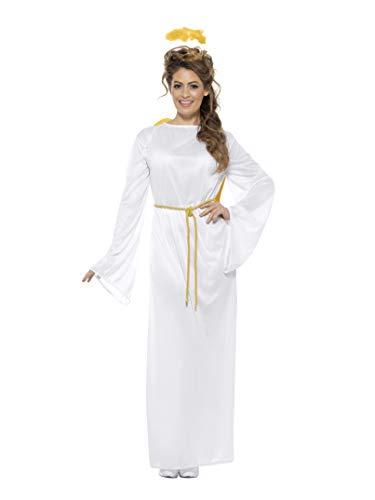 (Smiffys, Unisex Engel Gabriel Kostüm, Gewand, Gürtel, Flügel und Heiligenschein, Größe: S/M, 43116)