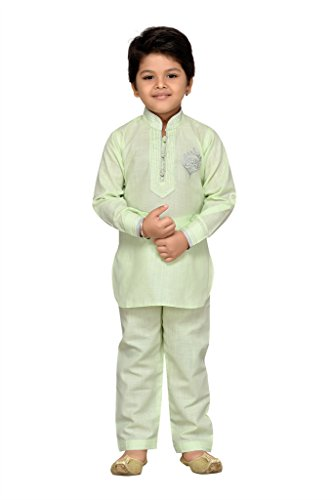 AJ Dezines Baby Boys Pathani Suit for Kids (709_C_GREEN_1)