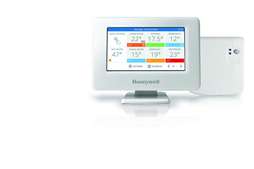 Honeywell Home Evohome Wi-Fi Termostato Intelligente Multizona Senza Fili-Gestibile Via App, 0 V, Bianco, 139x101x21mm