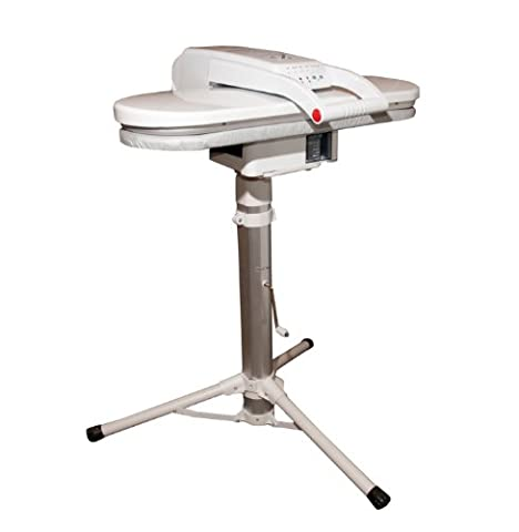 Steam Press (White with Telescopic Height-Adjustable Press Stand) ESP + FREE Extra Cover & Foam (RRP £35.00)
