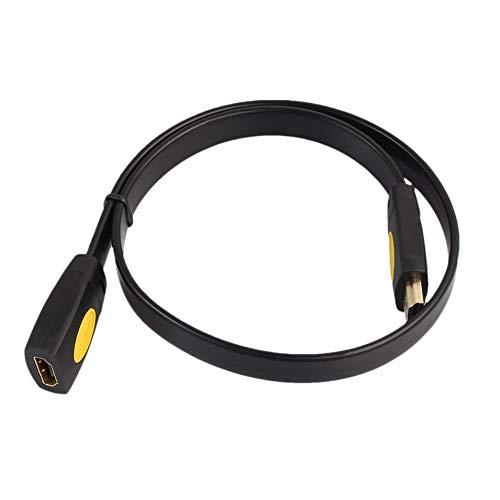 HermosaUKnight HDMI-Stecker auf Buchse Verlängerungskabel 4K 2.0V HDMI-Verlängerungskabel-Adapter, schwarz & gelb