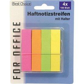 notas adhesivas 4x100 Hoja colores neón