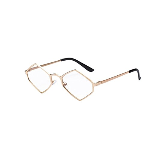 KUDICO Unisex Sonnenbrille Polygon Partybrillen Mode Matte Markantem Brille Getönt Pilotenbrille...