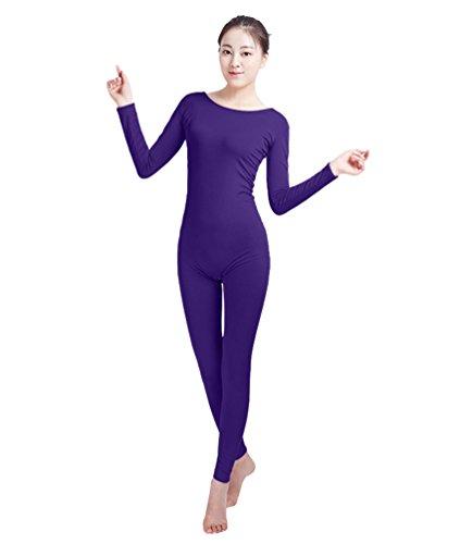 NiSeng Erwachsener und Kind Zentai Ganzkörperanzug Kostüm Ganzkörperanzug Fasching Bodysuit Kostüm DunkelViolett M