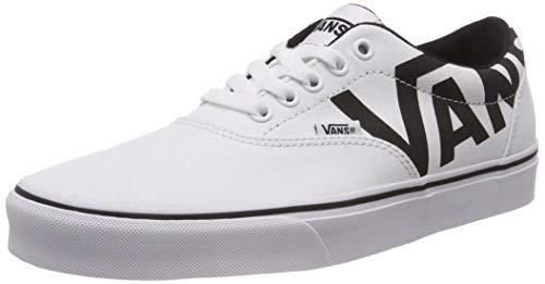 Vans Herren Doheny Big Logo Sneaker, Weiß White/Black Ryk, 44.5 EU - Vans Herren Schuhe Slip-on White