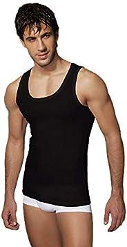 Doreanse İç Giyim Erkek Atlet -%100 Pamuklu Derin Yuvarlak Yaka İç Çamaşırı Atlet Fanila, Klasik Kesim Toparla