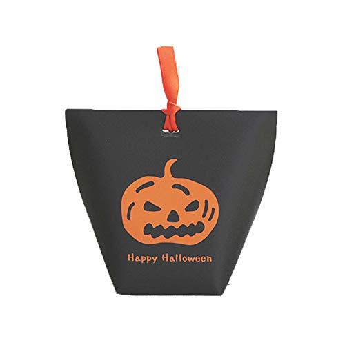 ox, Koreanisch Happy Halloween Folding Geschenk-Verpackung Karton Spot-kreative lustiges Very Funny Kürbis Süßigkeiten Black Box ()