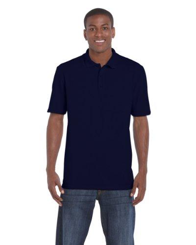Gildan Mens DryBlend Pique Polo Shirt Blau - Navy