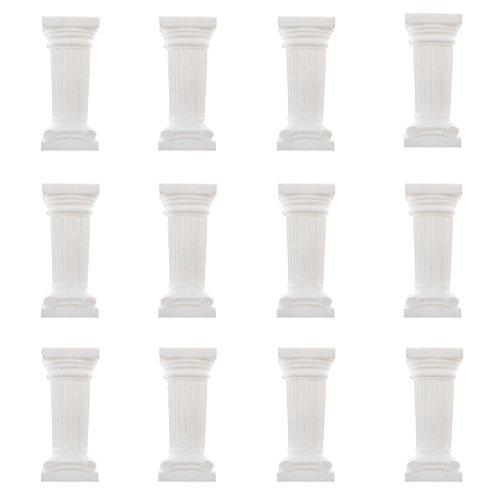 B Blesiya 12 Piezas Columna Griega Pedestal Pilar Estatua Escultura De Alabastro Jardín Decoración De La Boda - 3