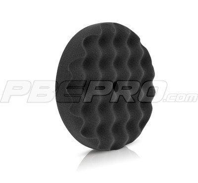 Buff and Shine 8.25 x 1.5 Black Waffle Foam Finish Pad - 820WG by Buff and Shine (Pads And Shine Buff)