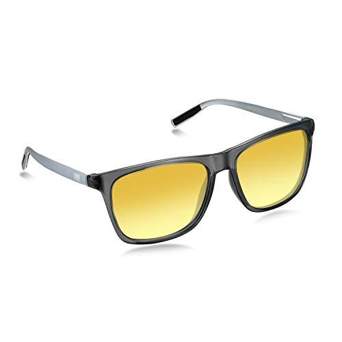 WHCREAT Photochrome polarisierte Al-Mg-Sonnenbrille mit Federscharnieren UV400-Schutzglas für Herren (Grey Photochromic Lens)