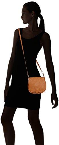 CTM Pochette a spalla da donna, borsetta in vera pelle made in Italy - 19x17x6 Cm Cuoio