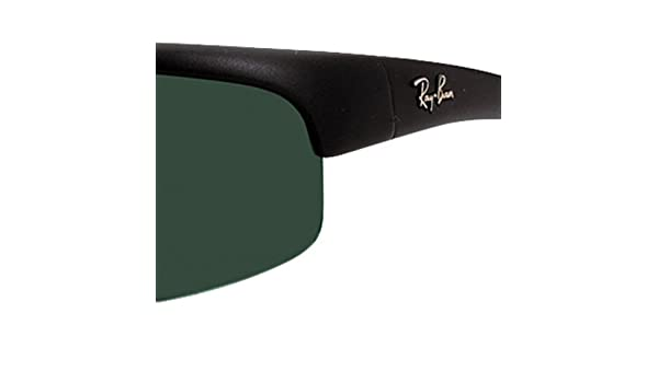 86eca82bfb Ray Ban Rb4039 Matte Black Frame Grey Green Lens Plastic Sunglasses   Amazon.co.uk  Clothing