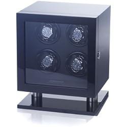 """Raoul U Braun Uhrenbeweger Skyline"""" für 4 Uhren Piano Black / Black Digitales Steuerungsmodul Watchwinder"""