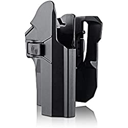 efluky Sig Sauer Holster Ceinture Airsoft Pistolet Defense Gun Holster for Sig Sauer P226 P227 P228 P229, Paddle 360° Réglable