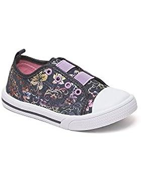 Las niñas lienzo zapatillas bombas Plimsole verano tamaño edad Chatterbox azul rosa