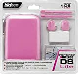 Bigben Interactive - DS SACOCHE+2 STYLETS TACTILES+2 PROTECTIONS ECRAN+2 STYLETS:ROSE
