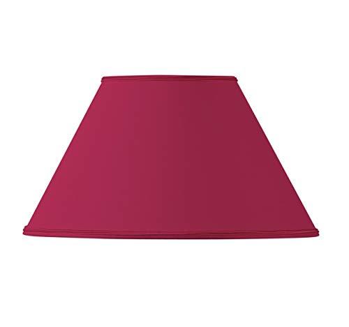 Lampenschirm, viktorianische Form, Ø 30 x 13 x 18, Bordeaux -
