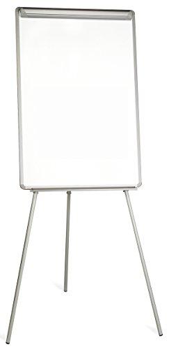 Bi-office lavagna portablocco magnetico, cavalletto treppiedi economico, cornice in grigio, dimensioni panello euro - 700 x 1000 mm